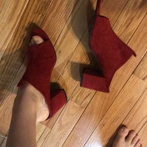 Red shoes from Zara